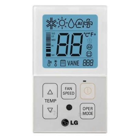 Lg Pqrcvcl0qw White Mini Split Simple Thermostat