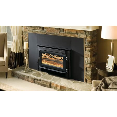 Majestic Wr2500x02 Black Plate Steel Wood Burning Fireplace Insert