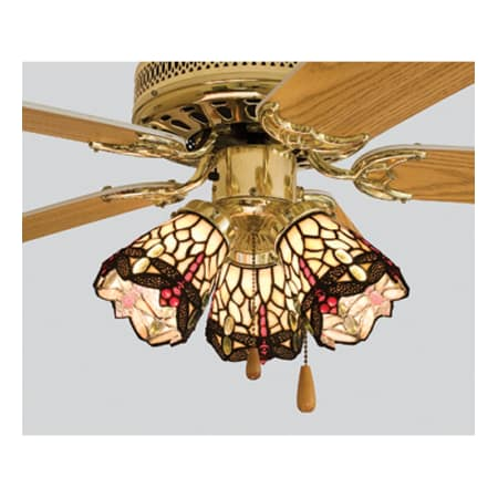 meyda tiffany 99245 bone beige tiffany dragonfly fanlight