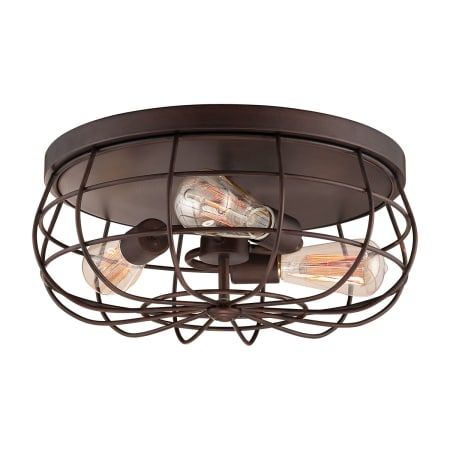 Millennium Lighting 5323-RBZ Rubbed Bronze Neo-Industrial 3 Light ...