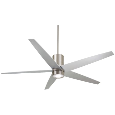 Minkaaire f828 bn brushed nickel 56 5 blade indoor ceiling fan with minkaaire symbio aloadofball Images
