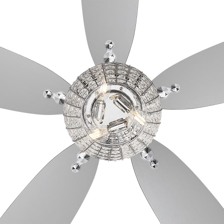 Minkaaire F902l Ch Chrome 56 Quot 5 Blade Bling Indoor Led Ceiling Fan With Blades Remote
