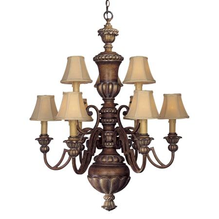Minka lavery 947 126 belcaro walnut 9 light up lighting chandelier minka lavery ml 947 mozeypictures Images