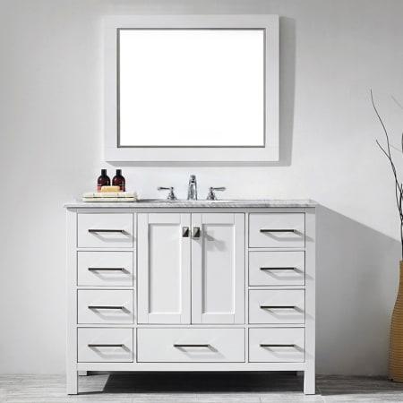 Miseno 723048 Wh Ca White Carrara Marble Top 48 Free Standing