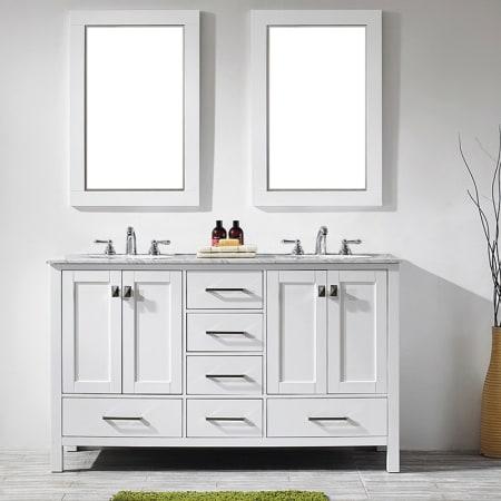 A Large Image Of The Miseno Mv723060 White Carrara Marble Top