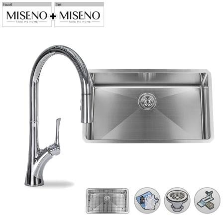 Miseno Mno163219sr Mk171 Pc Polished Chrome Faucet 32 Single Bowl