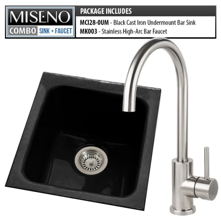 Miseno Mci28 0um 78 Mk003 B Black Brushed Stainless Bar Combo