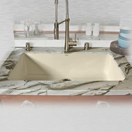 Miseno Mci54 0um 22 Biscuit 33 Single Basin Undermount Cast Iron