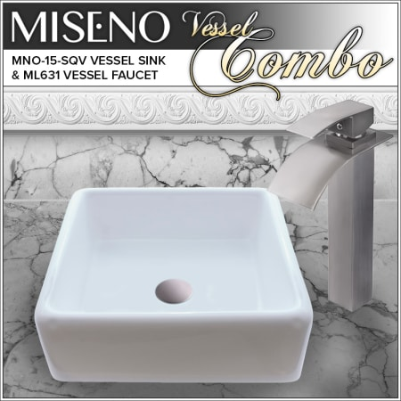Miseno Mno15sqv Ml631bn Brushed Nickel Faucet 15 Vitreous China