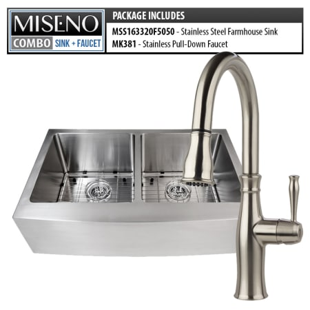 Miseno Mno163320f5050 Mno381 Ss 16 Gauge Stainless Steel