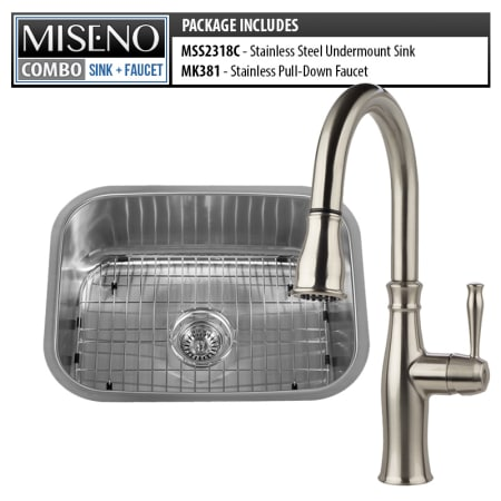 Miseno Mss2318c Mno381 Ss 16 Gauge Stainless Steel Stainless