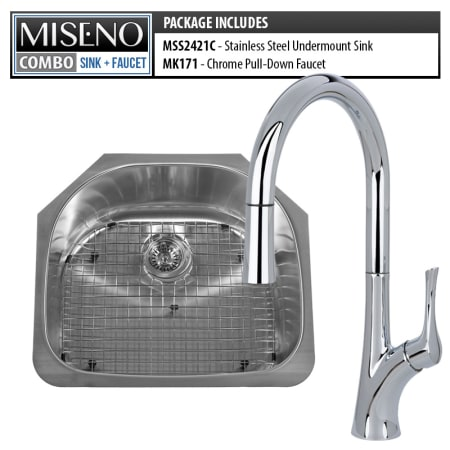 Miseno Mss2421c Mno171cp 16 Gauge Stainless Steel Polished