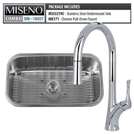 Miseno Undefined Undefined Kitchen Combo 30 Undermount Single Basin Stainless Steel Kitchen Sink And Pullout Spray Kitchen Faucet Miseno Com