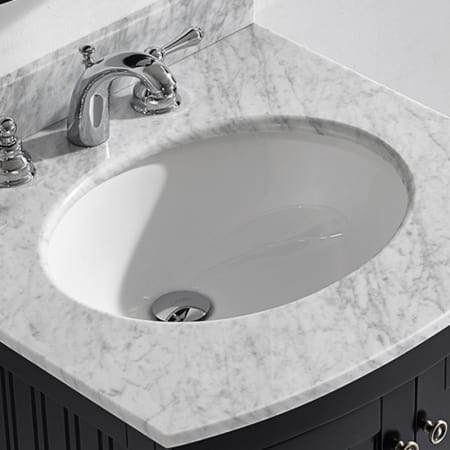 Miseno mno1714ou white 17 3 8 undermount bathroom sink with overflow mounting clips included for Replace undermount bathroom sink