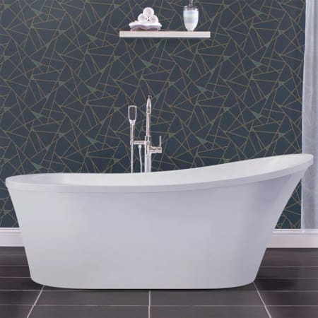 Miseno Mno7035fso White 70 Oval Free Standing Bathtub With Slipper Back Reversible Drain Location Miseno Com