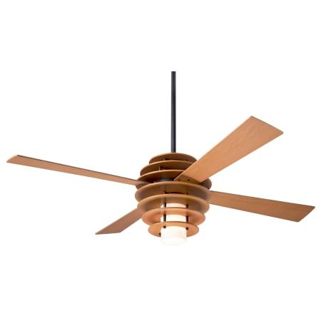 Modern Fan Co Sla Mp Maple Dark Bronze 52 4 Blade Ceiling Fan With Custom Blade Light Kit And Control Options Lightingshowplace Com