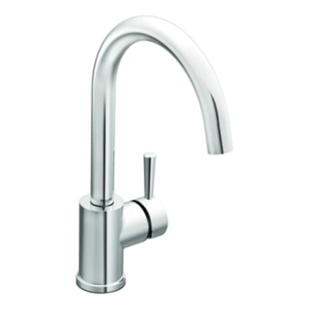 Moen 7100 Chrome Single Handle Kitchen Faucet From The Lever