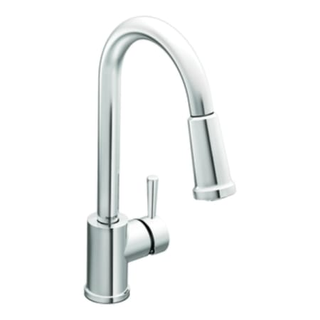 Moen 7175 Chrome Single Handle Pullout Spray Kitchen Faucet With