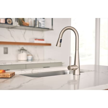 Moen 7864 Chrome Sleek Pull Down Spray Kitchen Faucet With
