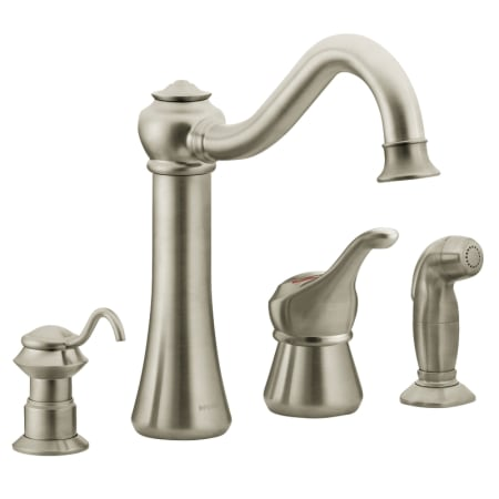 Moen 87770sl Stainless Single Handle Kitchen Faucet With Side Spray