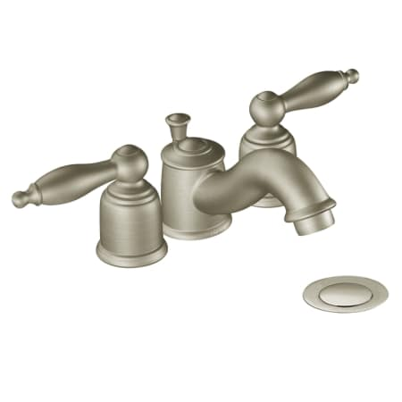 Moen T4955 Chrome Double Handle Mini Widespread Bathroom Faucet With Metal Lever Handles From