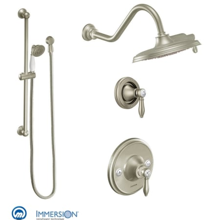 Moen 3025bn Brushed Nickel Pressure Balanced Shower System With Rain