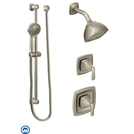 Moen 425bn Brushed Nickel Pressure Balanced Shower System With