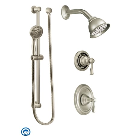 35b1fde42 Moen 525BN Brushed Nickel Pressure Balanced Shower System with ...