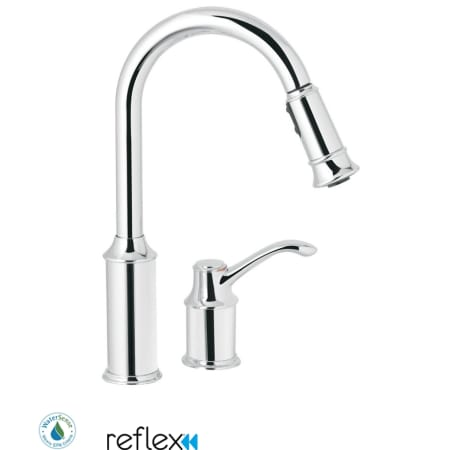 Moen 7590C Chrome Single Handle Pulldown Spray Kitchen Faucet with ...