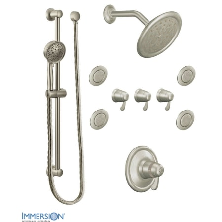 Moen 776bn Brushed Nickel Thermostatic Shower System With Rain