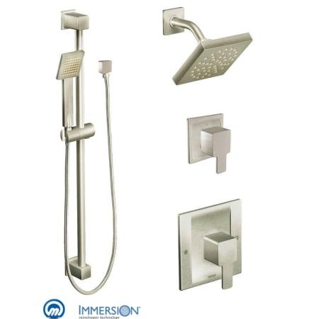 Moen 825bn Brushed Nickel Posi Temp Shower System With Rain Shower