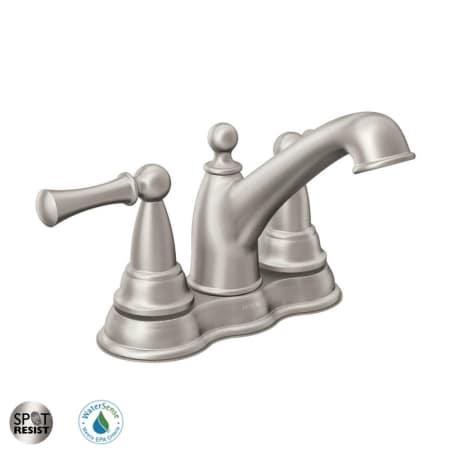 Moen 84600SRN Spot Resist Brushed Nickel Sage Centerset Bathroom ...