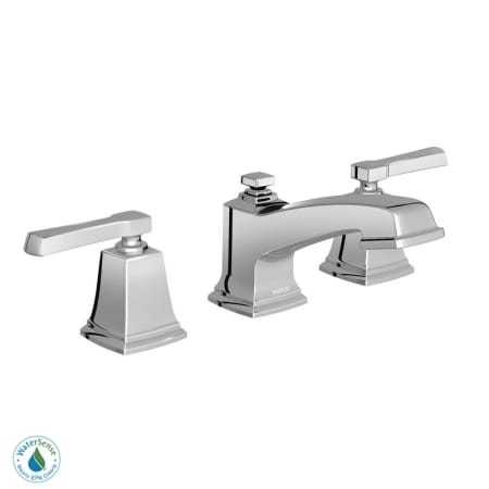 Moen 84820 Chrome Double Handle Widespread Bathroom Faucet From The Boardwalk Collection Valve
