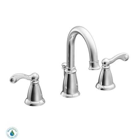 Moen Ca84004 Chrome Double Handle Widespread Bathroom Faucet From The Traditional Collection