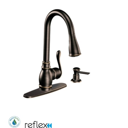 Moen Ca87003brb Mediterranean Bronze Single Handle Kitchen Faucet