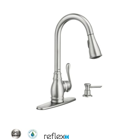 Moen Ca87003srs Spot Resist Stainless Single Handle Kitchen Faucet