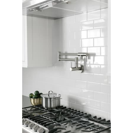 Moen S665 Chrome Double Handle Wall Mount Kitchen Pot