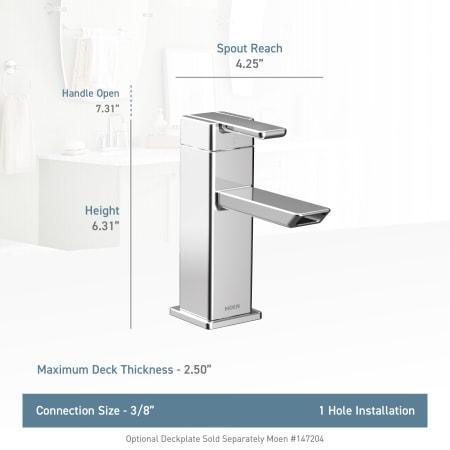 Moen S6700hc Chrome Single Hole Bathroom Faucet Includes