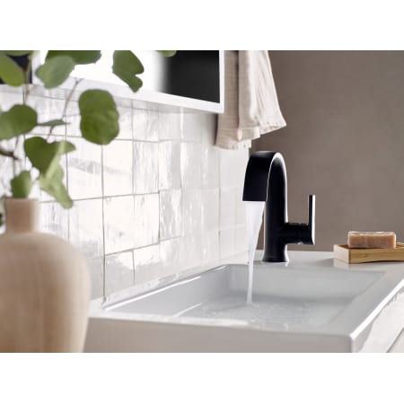 Moen S6910bl Matte Black Doux 1 2 Gpm Single Hole Bathroom