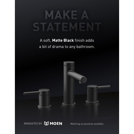 Moen T6193bl Matte Black Align 1 2 Gpm Widespread Bathroom