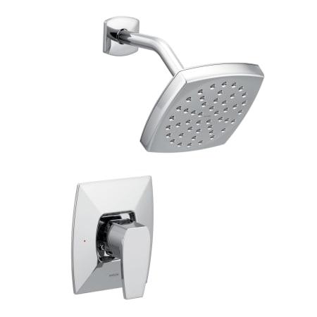 Moen ts8712ep chrome via shower trim package with single for Como cambiar las llaves de la regadera