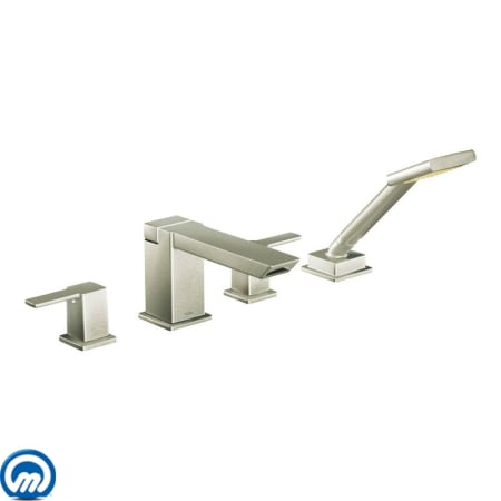 Moen TS904BN Brushed Nickel Deck Mounted Roman Tub Faucet Trim with ...