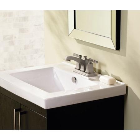Moen 84800 Chrome Double Handle Centerset Bathroom Faucet