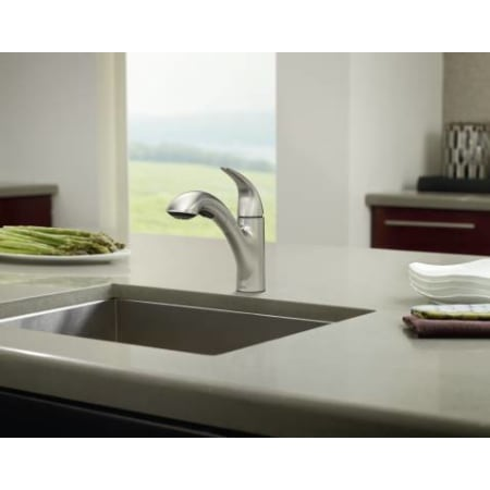 Moen 87039 Chrome Single Handle Kitchen Faucet With