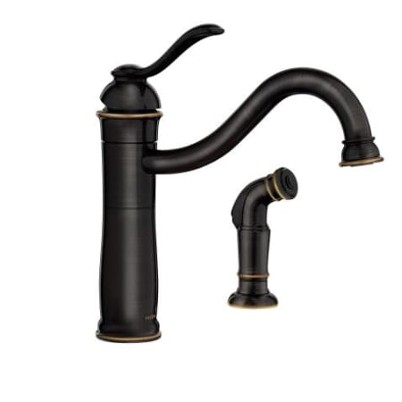 Moen 87427mbrb Mediterranean Bronze Microban Single Handle