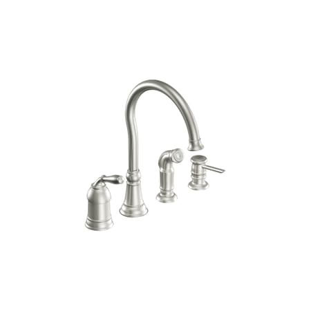 Moen CA87008CSL Classic Stainless Single Handle High Arc Kitchen ...