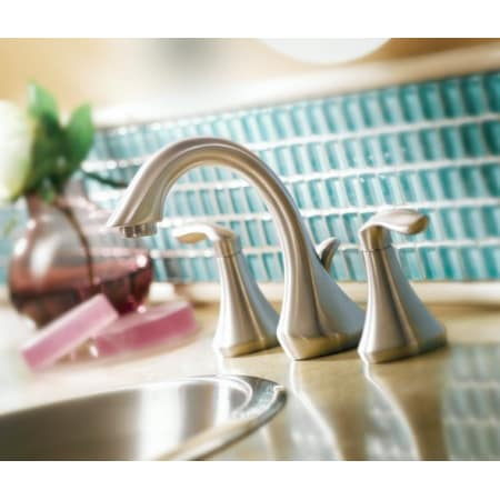 Moen T6420 9000 Chrome Double Handle Widespread Bathroom Faucet From The Eva Collection Valve