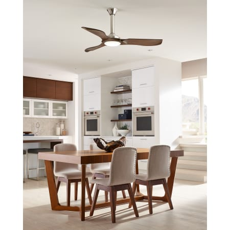 Monte carlo 3mnlr56agpd aged pewter minimalist 56 3 blade monte carlo 3mnlr56agpd aged pewter minimalist 56 3 blade integrated led indoor outdoor ceiling fan with light kit and remote control aloadofball Gallery