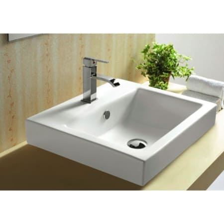 Nameeks Caracalla Ca4034a One Hole White Caracalla 20 1 2 Ceramic Drop In Bathroom Sink With 1