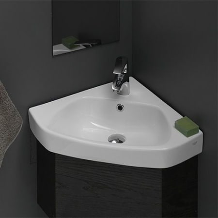 Nameeks Cerastyle 001900 U One Hole White One Hole Cerastyle 25 3 10 Ceramic Wall Mounted Bathroom Sink With 1 Faucet Hole And Overflow Faucet Com